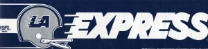 Los Angeles Express USFL Team Bumper Sticker