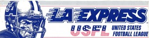 Unique LA Express USFL Bumper Sticker