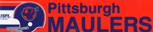 Pittsburgh Maulers USFL Bumper Sticker