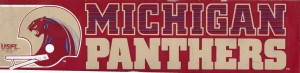 Michigan Panthers USFL Bumper Sticker