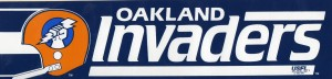Oakland Invaders USFL Bumper Sticker